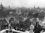 Bomb damage from St. Paul's towards Paternoster Row: 1940