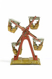 Tinplate mechanical penny toy ferris wheel: 20th century