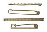 Four metal tie-pins: 20th century