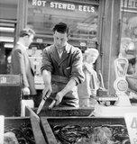 A Chapel Street Market eel stall: 1955