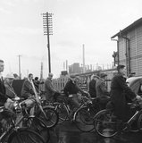 Cycle traffic at Ponders End station: 1957