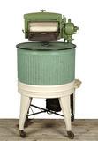 Circular green washing machine: 20th century