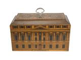 Marquetry tea chest: 18th century
