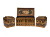 Tea chest and tea canisters: 1786