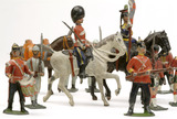 Selection of toy soldiers: 19th century