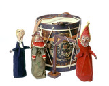 Selection of puppets from the Punch and Judy show: 1830