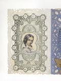 Handfinished layered valentine's card: 19th century