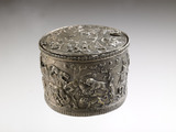Roman cylindrical silver container