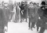 Mrs Pankhurst Arrested in Victoria Street: 1908