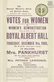 Handbill notice for a women's demonstration: 1909