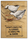 What's sauce for the gander is sauce for the goose: 1908-1910