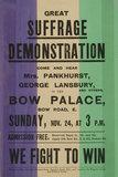 Suffrage Demonstration: c. 1910