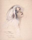 Portrait of Anna Pavlova: 1910-1915