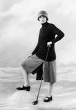 Image of a woman modeling golfingwear: 1925