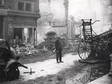 Bomb damage at Whitecross Street: 1940
