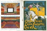 Front and back cover of a programme for the Grand Continental Circus at Crystal Palace: 20th century