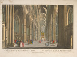 The inside of Westminster Abby - Le nef de l'Abaie de Westminster: 18th century