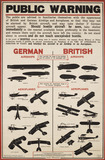 World War I aircraft information poster: 20th century
