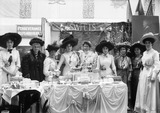 Suffragette exhibition stand: 1909