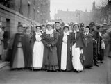 Suffragette procession of nurses and midwives: 1909