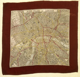 Commemorative handkerchief map: 19th century