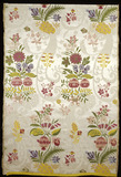 Silk dress panel: 18th century