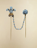 Double cravat pins: 19th century