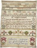 Woven linen sampler: 1796