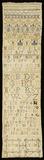 Linen sampler: 17th century
