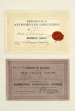 Two political association membership cards: 18th century