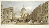 The Post Office, St. Paul's Cathedral, and Bull and Mouth Inn, London: 19th century