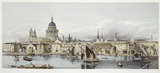 A view of the Thames and St Paul's: 19th century
