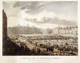 A Bird's Eye View of Smithfield Market: 1811
