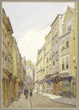 Cloth Fair, West Smithfield looking East: 19th century