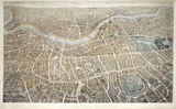A Balloon View of London as seen from Hampstead: 1851