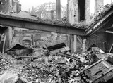 Bomb damage at the Chamberlain's Office, Guildhall: 1940
