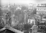 Bomb damage seen from St. Paul's cathedral: 1941