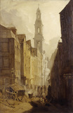 Drury Court with the Church of St Mary-le-Strand: 1886