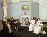 John Middleton with his family in his drawing room: 19th century