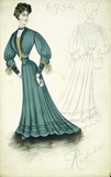 Victorian coloured fashion plate