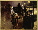 A Hansom Cab Stand: 19th century