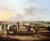 Lambeth Palace with a Distant View of Westminster and The Strand: 17th century