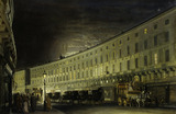 The Regent Street Quadrant at Night: 19th century