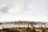 London from Southwark: 17th century