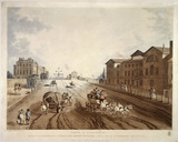 Entrance of Piccadilly or Hyde Park Corner Turnpike, with a view of St George's Hospital: 1797