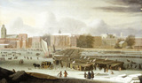 A Frost Fair on the Thames at Temple Stairs: 1684