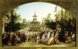 The Dancing Platform at Cremorne Gardens: 1864