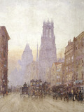 Fleet Street looking West: 19th century