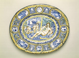 Tin-glazed 'Palissy' style dish: 17th century