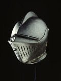 Steel tilting helmet: 17th century